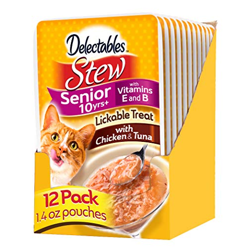 Delectables Stew Senior 10+ Chicken & Tuna Lickable Cat...