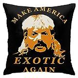 N A Joe Exotic President 2020 Funda de almohada decorativa para el hogar, fundas de almohada de doble cara impresas, cuadradas, 45 x 45 cm, para cama, sofá, silla, coche