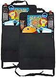 Rückenlehnenschutz für Auto Kinder (2 Stück) von ZAROSO mit großer Tasche und Tablet-/iPad-Fach, Auto-Rücksitz-Organizer für Kinder, Autositz-Schoner wasserdicht, Kick-Matten-Schutz