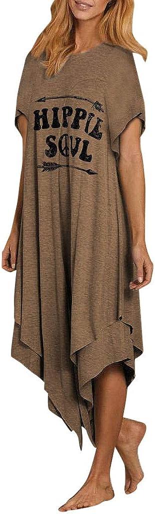 GCETTIC Women's Maxi Dress Casual Summer Long Maxi Dress Short Sleeve Party Beach Sundress