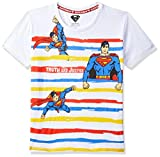 Superman By Kidsville Boy's Plain Regular fit T-Shirt (STY-18-19-002237 White 4-5 Years)