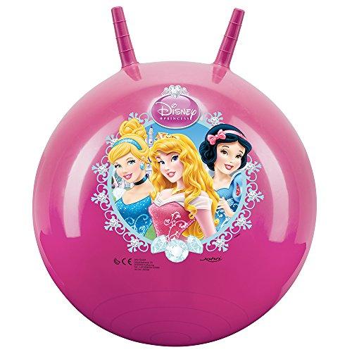 John 59538 - Sprungball Princess / Prinzessinnen - Disney - Bedruckter Hopperball, Hüpfball, Springball, Hopper Ball für Drinnen & Draußen - wiederaufblasbar, robust - Fitness für Kinder