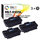 (3-Pack) Compatiable MLT-D105L MLTD105L Toner Cartridge for use in Sumaung SCX-4623, ML-2525, ML-2545 Printer, Sold by TG Imaging (Black)