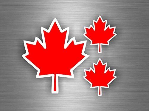 Akachafactory Selbstklebende Sticker, Motiv: Ahorn-Blatt, Flagge: Kanada, für Auto Motorrad Tuning