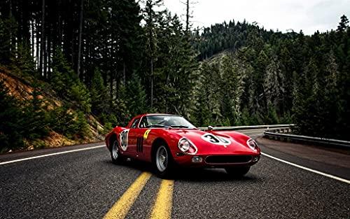 Ferrari 250 GTO 3 c3592 A0 Poster on Canva - Material de lona plano, enrollado, sin marco (40/33 inch)(119/84 cm) -...
