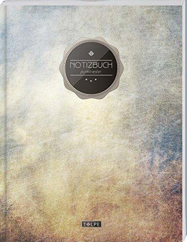 """TULPE Punktraster Notizbuch A4 """"C010 Urban"""" (140+ Seiten, Vintage Softcover, Punktkariertes Papier - Bullet Journal, Dickes Notizheft, Skizzenbuch, Tagebuch, Gepunktete Seiten, Dot Grid Notebook)"""
