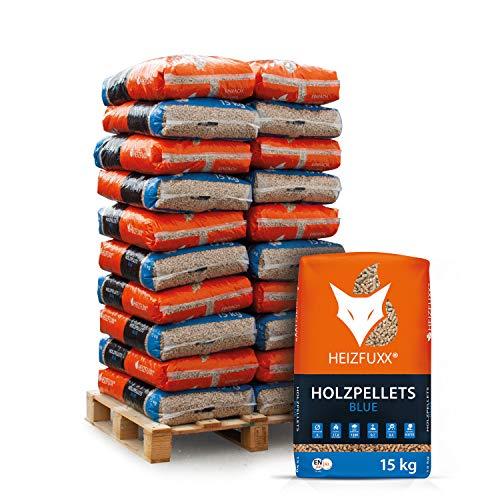 PALIGO Holzpellets Blue Heizpellets Nadelholz Wood Pellet Öko Energie Heizung Kessel Sackware 6mm 15kg x 20 Sack 300kg / 1 Palette Heizfuxx