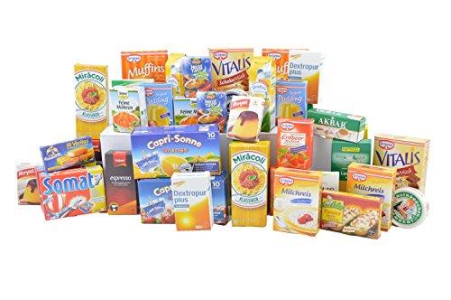 Kaufladen / Kaufmannsladen Zubehör 40-teiliges Set in praktischer Aufbewahrungsbox