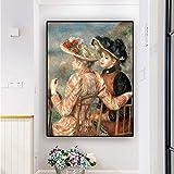 yhyxll Pierre Auguste Renoir Pintura al óleo sobre Lienzo Reproducción Carteles e Impresiones Scandinavian Pop Art Wall Picture for Living Room 50x60cm