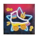 NET TOYS 12 Servietten 80er Jahre 33 x 33 cm - Außergewöhnliche Party-Dekoration Disco Fever Papierservietten - Bestens geeignet für Mottoparty & Geburtstagsfeier - 3