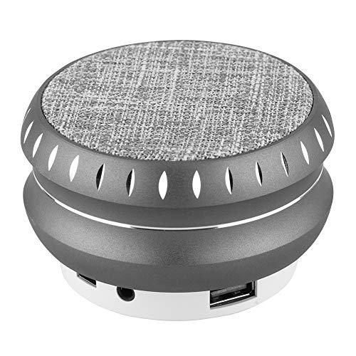 idalinya Altavoz Bluetooth portátil FM, Altavoz, música multifunción con Sonido de Moda para el hogar al Aire Libre(Gray)