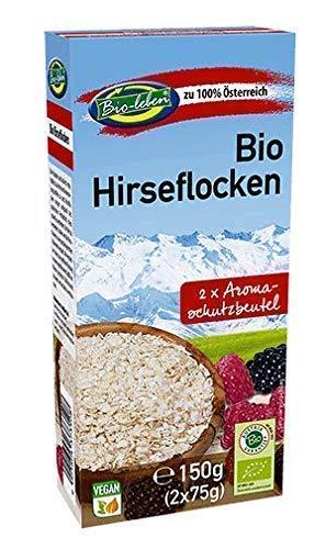 Bio-leben österreichische Bio Hirseflocken glutenfrei 900g gentechnikfreie Hirse Flocken aus Österreich, extra gereinigt und stechapfelfrei 6x150g