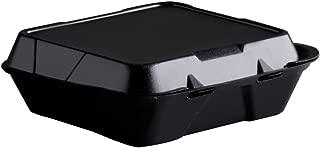 Genpak SN2003L Snap It Foam Container 1-Comp 9 1/4 x 9 1/4 x 3 Black 100/Bag 2 Bags/Carton