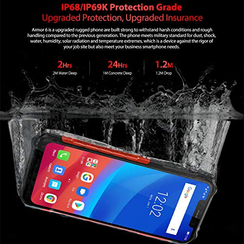 Ulefone Armor 6 Smartphone - IP68 Waterproof 6.2
