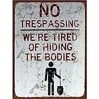 No Trespassing 金属板ブリキ看板警告サイン注意サイン表示パネル情報サイン金属安全サイン