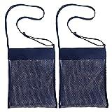 Mesh Beach Bag per giocattoli di sabbia Lontano Tote per bambini Piscina scoperta di viaggio per Sandy scarpe bagnate Asciugamani