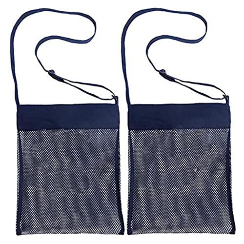Mesh strandväska för leksaker sand borta-tygväska för barn simbassäng resor sandskor våta handdukar
