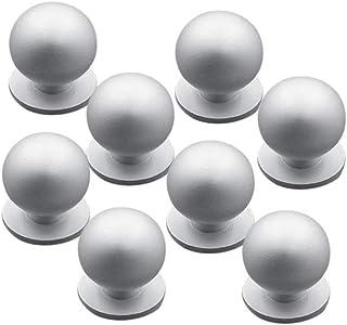 Nubstoer 8 Juego de pomos de Aluminio Mango Redondo Bola Tiradores de Tirador para Muebles y cajones Matte