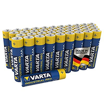 VARTA Industrial Pro AAA Micro Alkaline Batteries LR6-40-Pack, Made in Germany
