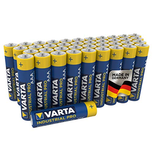 VARTA Industrial Batterie AAA Micro Alkaline Batterien LR03 - 40er pack, Made in Germany