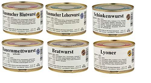 Eifler Wurstsorten Probierpaket 6 Dosen a 400 g