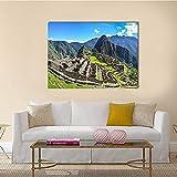1 Piezas Impresiones En Lienzo Ciudad Machu Picchu En La Montaña Los Andes Peruanos 1 Piezas Cuadro Sobre Lienzo,Cuadro En Lienzo 1 Piezas,Pintura Decoración 1 Piezas,Hd Mural Moderno Decor Hogareña