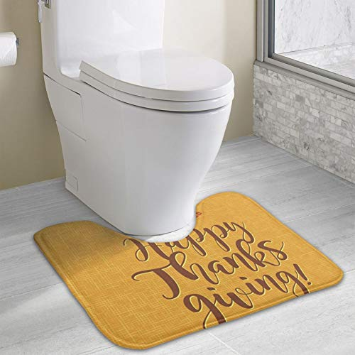 Happy Thanksgiving Area Rugs Toilet mat U Type pad Thicken Non-Slip Floor mat Bathroom Absorbent pad Fashion Home Decoration
