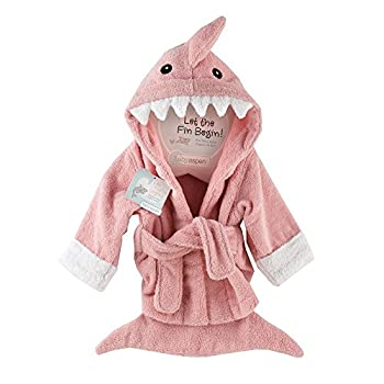 Baby Aspen  Let the Fin Begin  Shark Robe Pink 0-9 Months