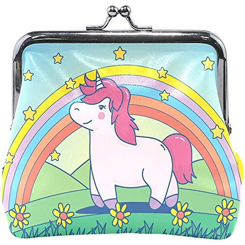 Cute Cartoon Unicorn Wallet Coin Purses Vintage Pouch Fashion PU Leather Money Card Holder for Women Girls Teen Kids