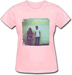 Refined Teddy Thompson and Kelly Jones Little Windows Women's Cotton Short Sleeve T-Shirt