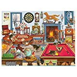 XQLSRJ Jigsaw Puzzles Adultos 1000, 1000 Imposible Piezas de Rompecabezas Puzzles Adultos Adolescentes Rompecabezas cabaña del otoño Decoración hogareña