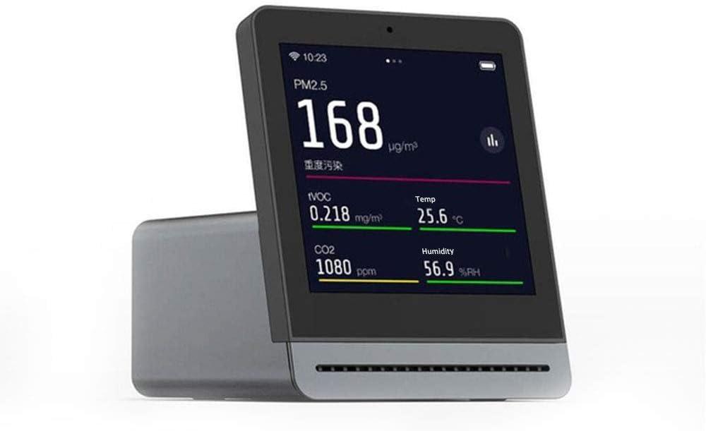 Cleargrass Detector Inteligente de Calidad del Aire con Pantalla táctil IPS de 3,1 Pulgadas con Temperatura y Humedad, PM2.5, tVOC, monitorización del Valor de dióxido de Carbono (Negro)