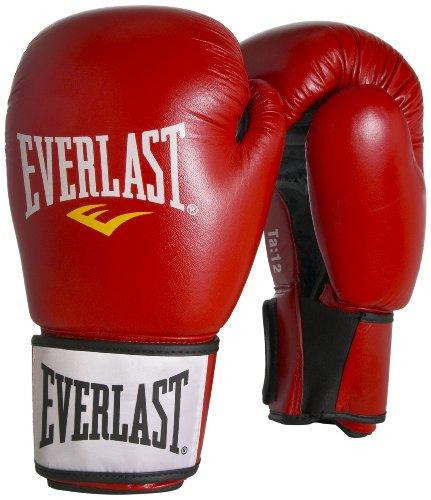 Everlast 6070PU - Guantes de entrenamiento de boxeo (16 oz, 30 cm), color rojo