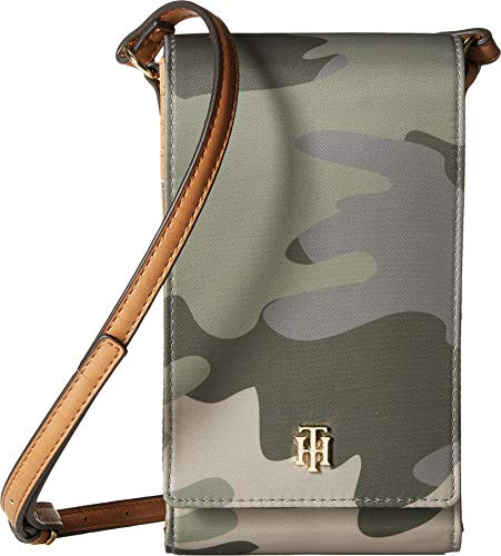 Tommy Hilfiger Damen Julia iPhone Crossbody, Grn (Green/Multi), Einheitsgröße