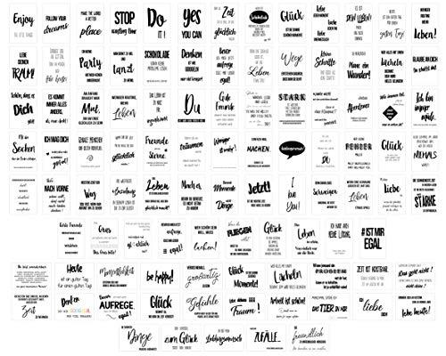 Edition Seidel Set Postkarten Leben & Momente mit Sprüchen - Karten mit Spruch - Geschenk - Dekoidee, Liebe, Freundschaft, Leben, Motivation, Geburtstagskarten Bild lustig Postkarte Karte (20554)
