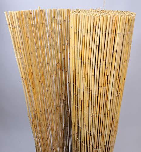 Dschungelrohrmatte Extra Schilfrohrzaun, Sichtschutzmatte, Schilfrohrmatte, 500 cm H 140 cm
