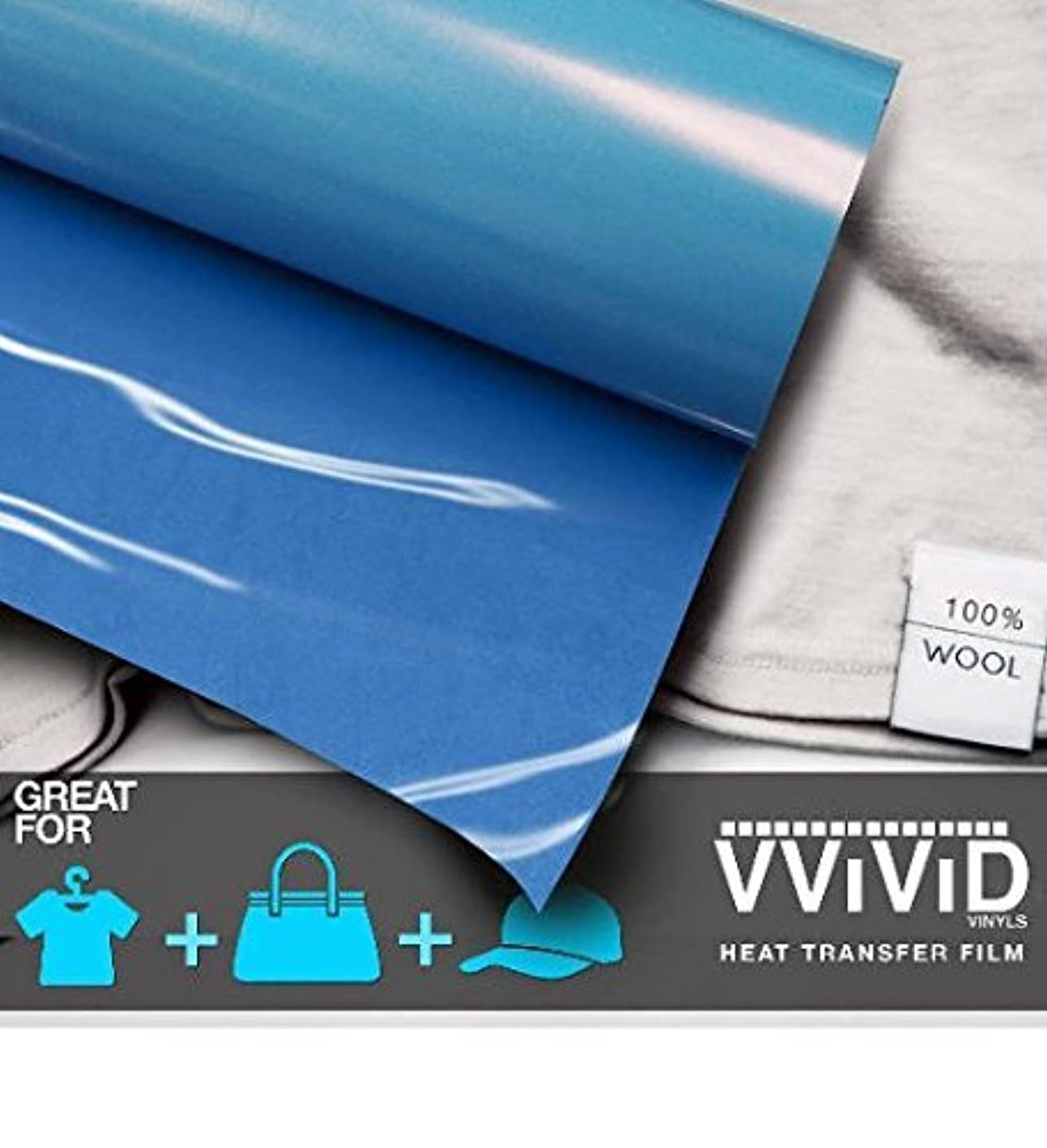 VViViD Sky Blue Heavy-Duty Iron-on Heat Transfer Vinyl Film (12
