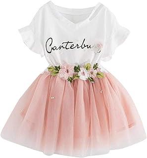 Distinguished Elegant Clothes Set,Toddler Kids Baby Girls Outfit Clothes Printing T-Shirt Tops+Floral Skirt Set Kids Cloth...