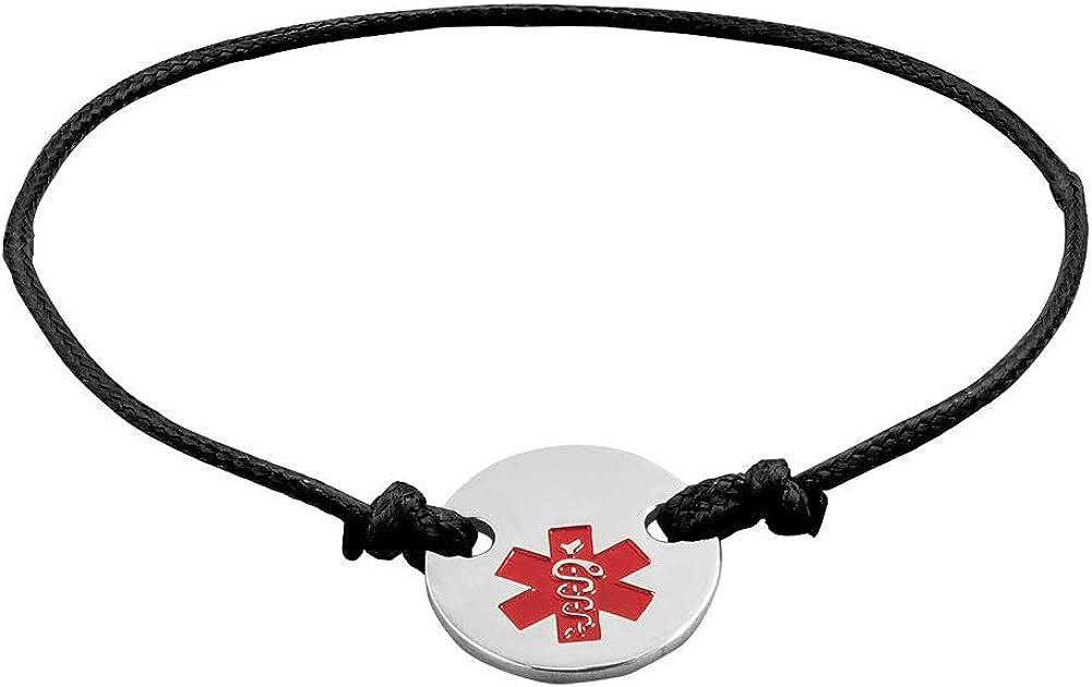 LoEnMe Jewelry Star of Life Cuff Bangle Stylish Band Rope Titanium Alert Medical Bracelets