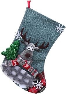 Ktyssp Christmas Candy Gift Bag Decoration Props Santa Elk Socks Christmas Socks