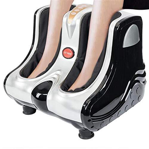 Foot Massager Machine Shiatsu Foot and Calf/Leg Massager with Heat, Vibration, Kneading, Rolling, Shiatsu Heated Foot and Calf Massager Machine to Relieve Sore Feet (Silver)