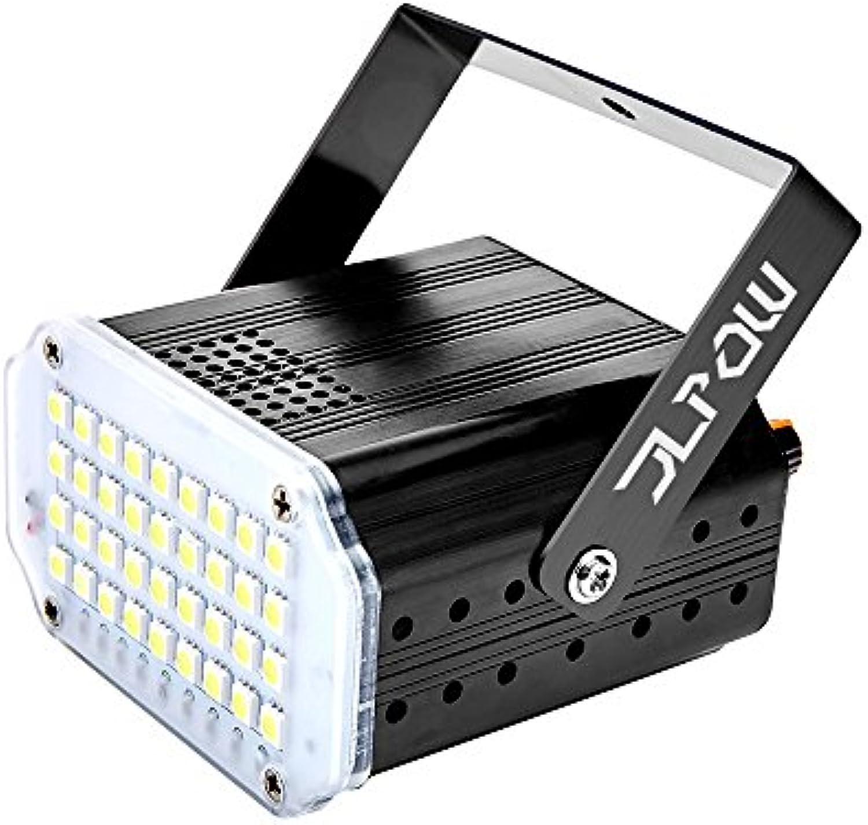 Stroboskop Disco Licht, JLPOW 36 Super Helle LED Lichteffekte Mini Party Licht Bühnenbeleuchtung, Musikgesteuert Disco Strobe Lampe mit weier Blitz, Besten DJ Beleuchtung für Weihnachten Party Verein