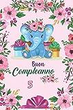 Buon compleanno 5 elefante carino: quaderno, diario, regalo di compleanno per ragazze, ottima qualità