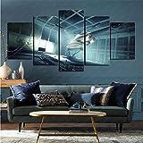 mmkow Lienzo de Artista Plano Juego de 5 Piezas Videojuego Prey (2017) Arte del hogar Dormitorio Decoración del hogar 100x200cm (Marco)