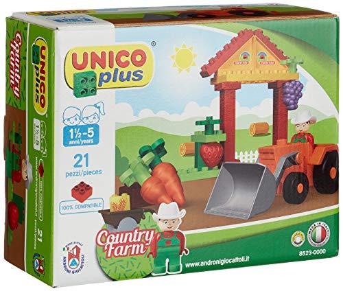 Unico Plus - Granja Pequeña Juego de construcción (Androni 8523) , Modelos/colores Surtidos, 1 Unidad