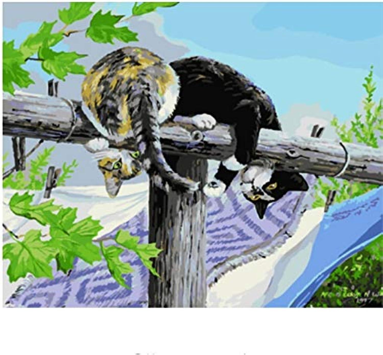 LIWEIXKY Bilder DIY Ölgemälde Durch Zahlen Malen & Kalligraphie Wohnkultur Für Wohnzimmer Wandkunst - Mit Rahmen - 40x50cm B07PTCHRMD | Sorgfältig ausgewählte Materialien