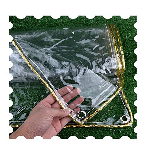 Tarp MYAN Transparent Tarpaulin Waterproof, Heavy Thick PVC Gazebo Rainproof Windproof Cover For Garden Chairs And Table (Color : Clear, Size : 2.4x7m/7.9x23ft)