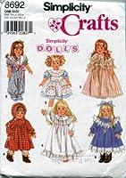 OOPのシンプルな裁縫パターン8692。 18インチの人形用ワードローブ。