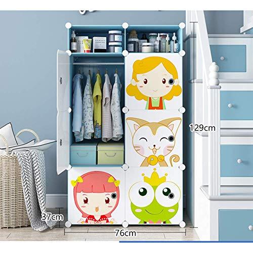 JHDDP3 Kleiderschrank Kindergarderobe Einfache und sparsame Kinder Baby Baby Tuch Kleiderschrank Home Schlafzimmer Kunststoff Speicher Lagerschrank, Q, (Color : N)