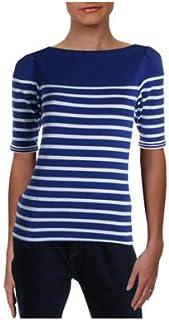 Lauren Ralph Lauren Womens Petites Striped Boatneck...